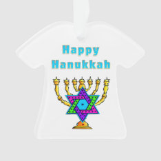 Happy Hanukkah Ornament at Zazzle
