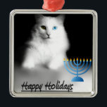 "Happy Hanukkah - Ornament<br><div class=""desc"">Happy Holidays ornament for Hanukkah - Chanukah,  featuring a photo of my baby girl,  Delain.</div>"