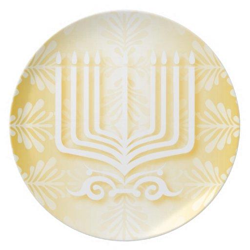 Happy Hanukkah Party Plate