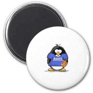 Happy Hanukkah Penguin 2 Inch Round Magnet