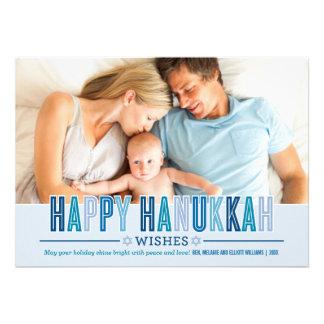 Happy Hanukkah Photo Card | Shades of Blue