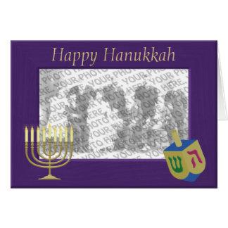 Happy Hanukkah Photo Frame Greeting Card