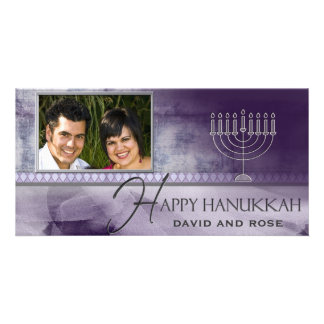HAPPY HANUKKAH  Photo Greeting Card template
