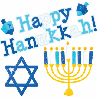 Happy Hanukkah Photo Statuette