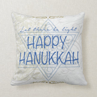 Happy Hanukkah Pillow Holiday Decor or Gift