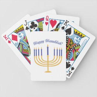 Happy Hanukkah! Bicycle Playing Cards
