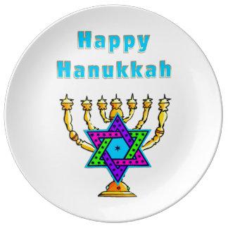 Happy Hanukkah Porcelain Plate