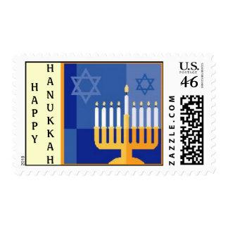 HAPPY HANUKKAH postage stamp