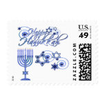 Happy Hanukkah Postage Stamps