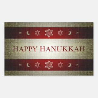 happy hanukkah rectangular sticker