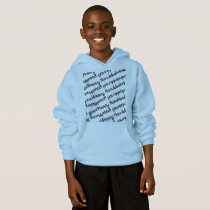 Happy Hanukkah retro with repeat mirror pattern Hoodie