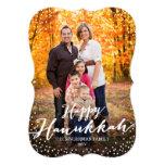 Happy Hanukkah Script Photo Card Announcements