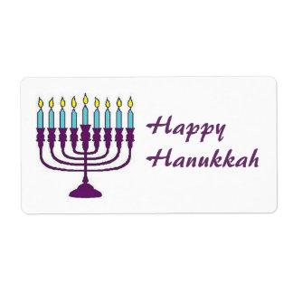 Happy Hanukkah Shalom Label