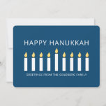 """Happy Hanukkah   Simple and Modern Candle Greeting Holiday Card<br><div class=""""desc"""">This is a simple,  minimalist and modern design of the Menorah or temple candlesticks.</div>"""