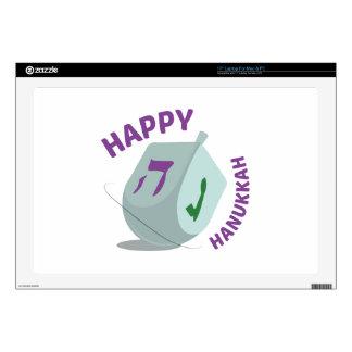 "Happy Hanukkah 17"" Laptop Decal"