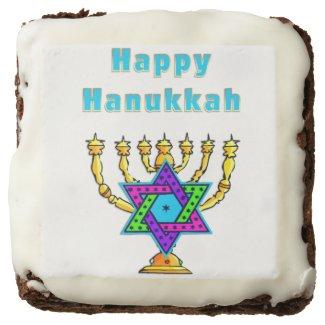 Hanukkah Brownies Personalized