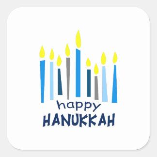 HAPPY HANUKKAH SQUARE STICKER