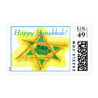 Happy Hanukkah Stamp at Zazzle