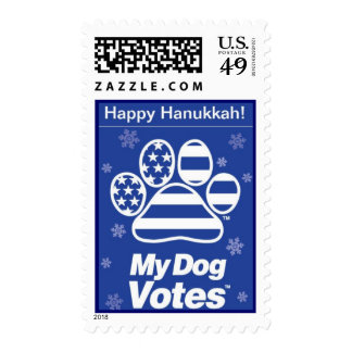 Happy Hanukkah Stamp From My Dog Votes