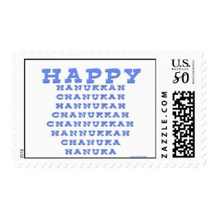 Happy Hanukkah Stamp Postage at Zazzle