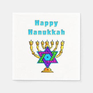 Happy Hanukkah Standard Cocktail Napkin