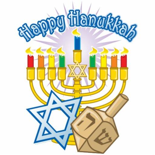 Happy Hanukkah Standing Photo Sculpture