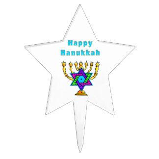 Happy Hanukkah Star Cake Toppers