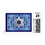 Happy Hanukkah! Star of David and Menorah Design Stamps
