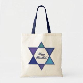 Happy Hanukkah Star of David Bag