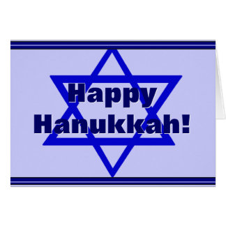 Happy Hanukkah (Star of David) Stationery Note Card