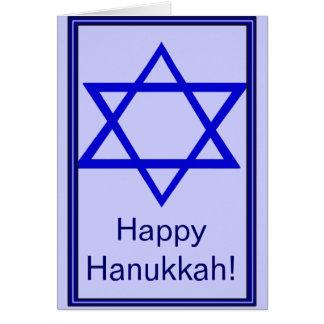 Happy Hanukkah (Star of David) Greeting Card