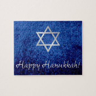 Happy Hanukkah Star of David Jigsaw Puzzle