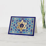 """Happy Hanukkah. Star of David & Menorah Cards<br><div class=""""desc"""">Happy Hanukkah / Happy Chanukah . Star of David and Menorah Design Customizable Greeting Cards. Matching cards,  postage stamps and other products available in the Jewish Holidays / Hanukkah Category of our store.</div>"""