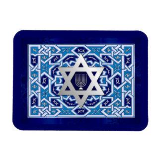 Happy Hanukkah. Star of David & Menorah Magnets
