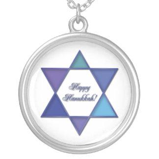 Happy Hanukkah Star of David Necklace