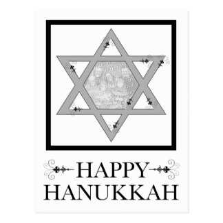 happy hanukkah : star of david photo card