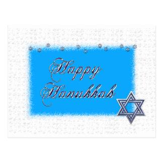 happy hanukkah star postcard