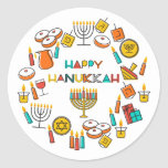 "Happy Hanukkah Sticker<br><div class=""desc"">Happy Hanukkah Sticker</div>"