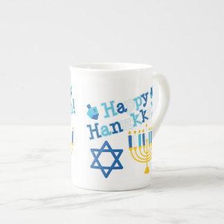 Happy Hanukkah Tea Cup