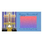happy hanukkah template personalized photo card