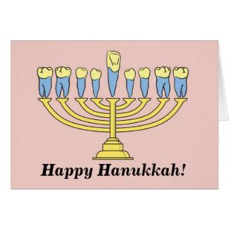 """Happy Hanukkah"" Tooth Card"