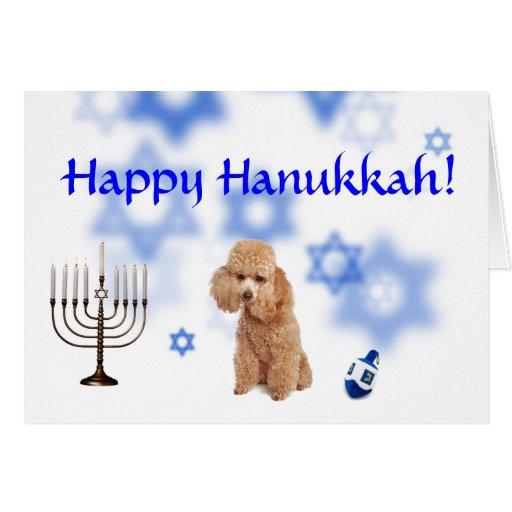 Happy Hanukkah Toy poodle Greeting Card