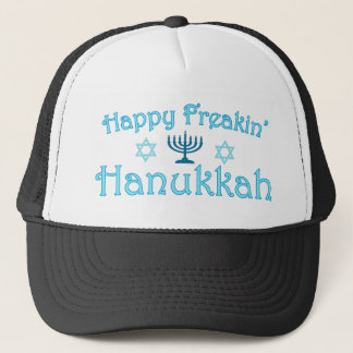 happy hanukkah trucker hat