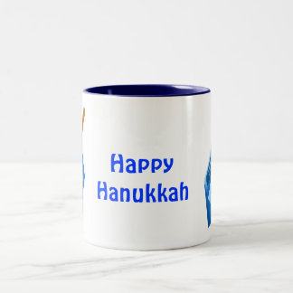 Happy Hanukkah Two-Tone Coffee Mug