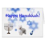 Happy Hanukkah West Highland White Terrier Card