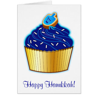 Happy Hanukkah with Cupcake and Cookie Greeting Card