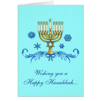 Happy Hanukkah with Menorah Card