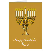 Happy Hanukkah with Menorah: Mom Card