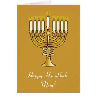Happy Hanukkah with Menorah: Mom Card