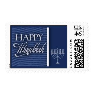 Happy Hanukkah with menorah Stamps